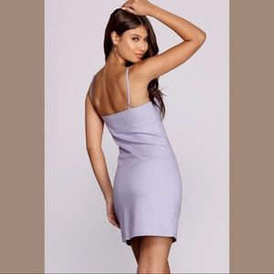 Windsor Dresses - lilac fitted cami dress
